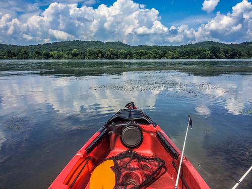 Kayak fishing the Tennessee River | by Eric Atkins
