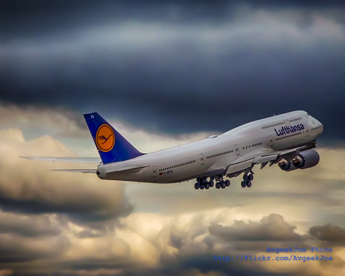 HDR of a Lufthansa 747-8i Delivery... | by AvgeekJoe