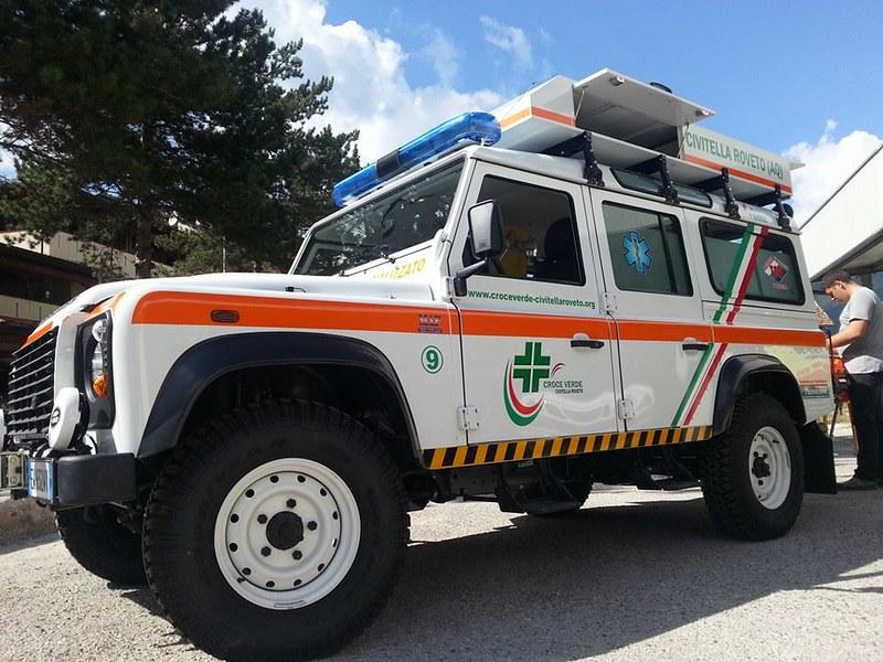 Civitella Roveto, il nuovo mezzo della Croce Verde