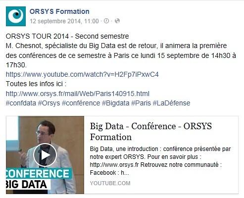 #CONFDATA_Conférence gratuite Orsys_Actualités Big Data_Paris-La Défense_Le 15 septembre 2014
