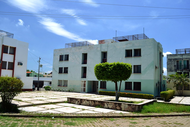 Edificio turquesa
