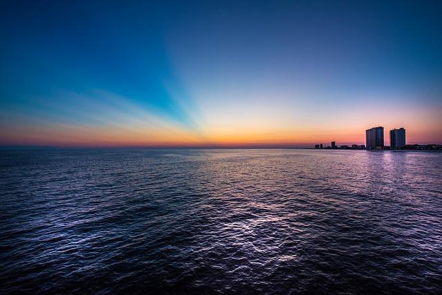 Evening in Panama City Beach Pier - Florida - USA