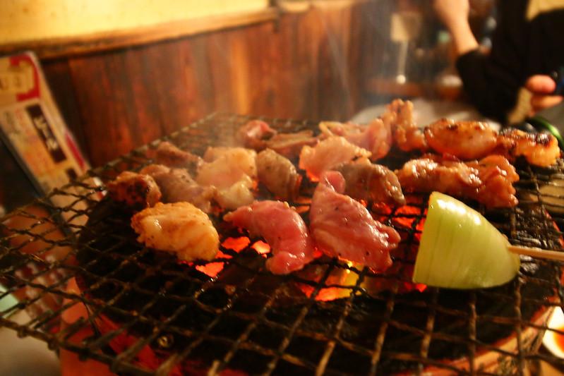 登山後の焼き肉打ち上げ