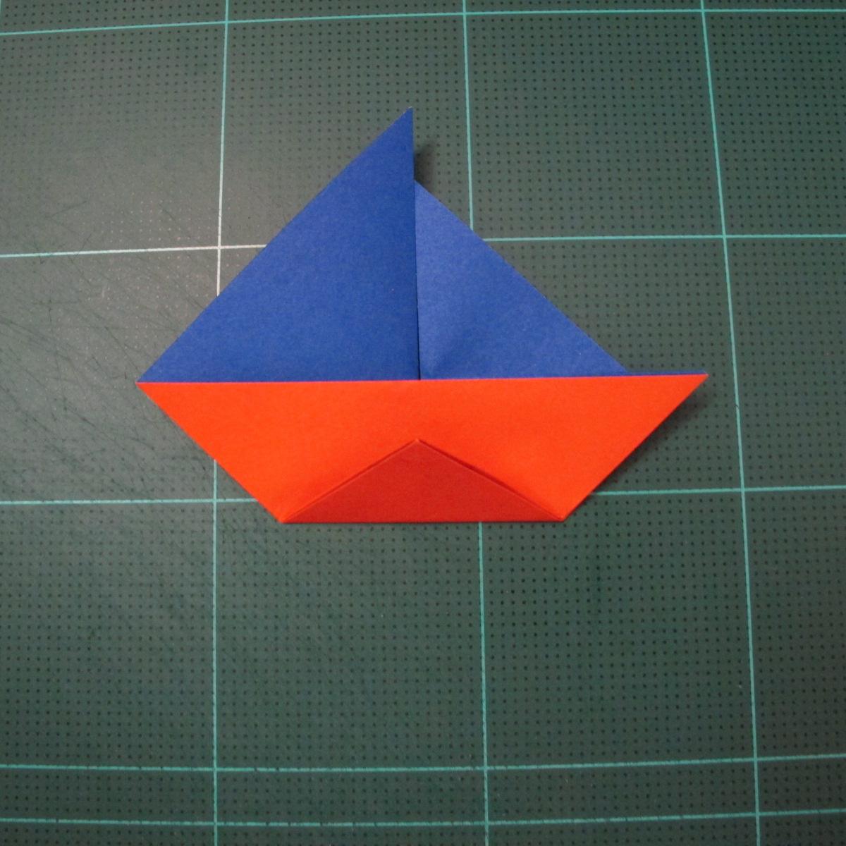 การพับกระดาษเป็นรูปเรือใบ (Origami Sail Boat) 008
