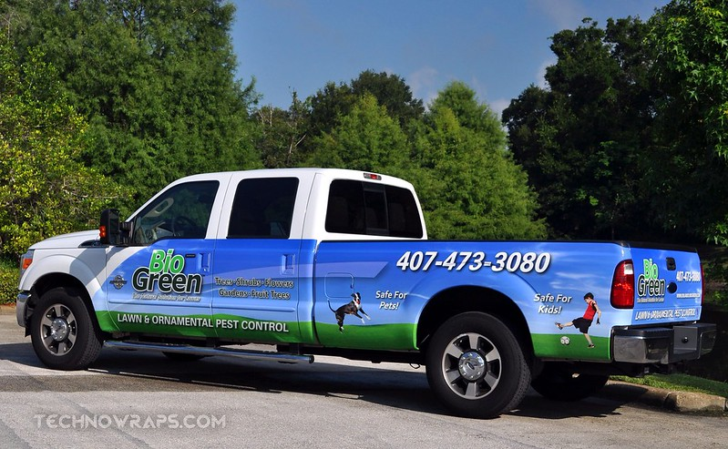 Ford truck wrap designed by TechnoSigns