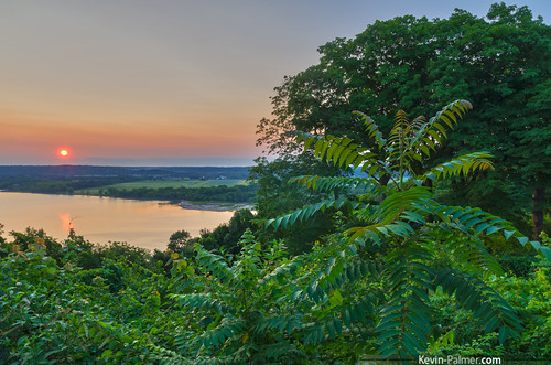 morning trees summer sky orange reflection green water sunrise early illinois july foliage clear valley peoria illinoisriver grandviewdrive lakem kevinpalmer tamron1750mmf28 peorialake