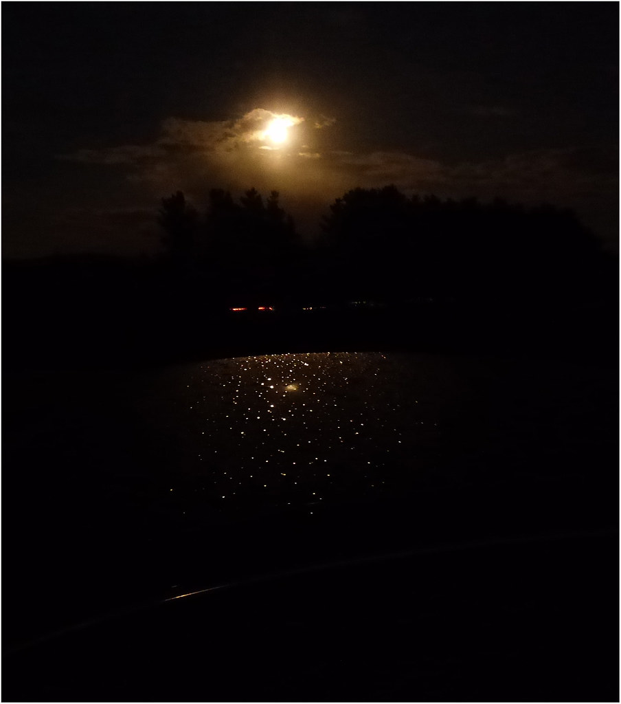 August moon and some traffic