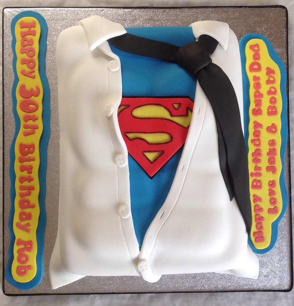 Groovy Superman 30Th Birthday Cake Liz Flickr Funny Birthday Cards Online Bapapcheapnameinfo