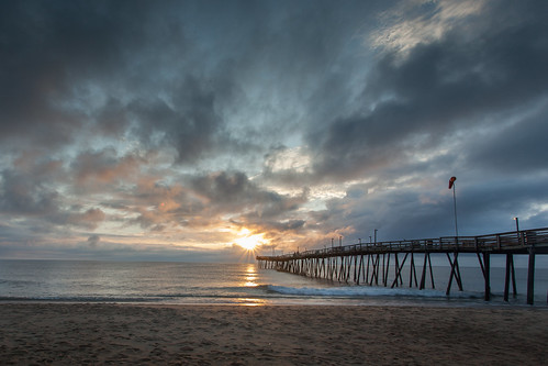 morning sun beach clouds sunrise canon pier duck northcarolina 5d outerbanks 1740mm kittyhawk avalon obx markii