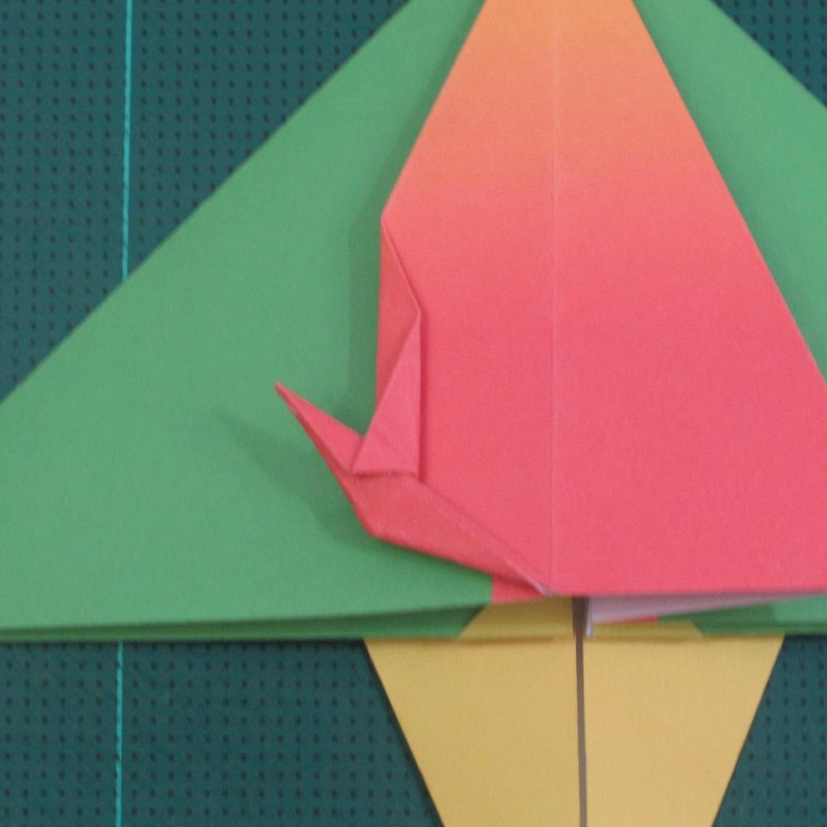 วิธีพับกระดาษเป็นรูปนกแก้ว (Origami Parrot) 022