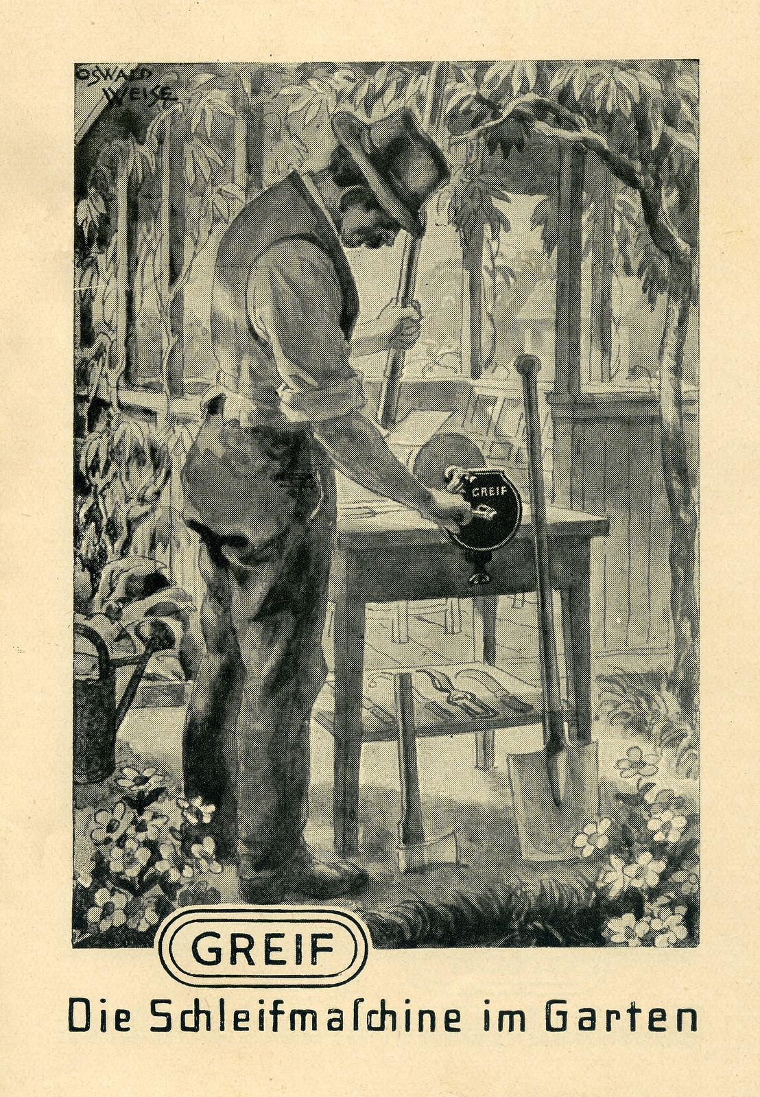 Werbeheftchen für Greif Schleifmaschinen, Bild 1