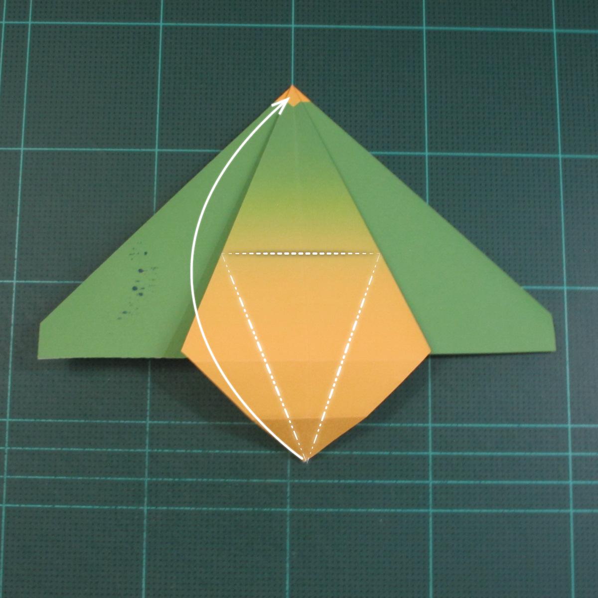 วิธีพับกระดาษเป็นรูปนกแก้ว (Origami Parrot) 015
