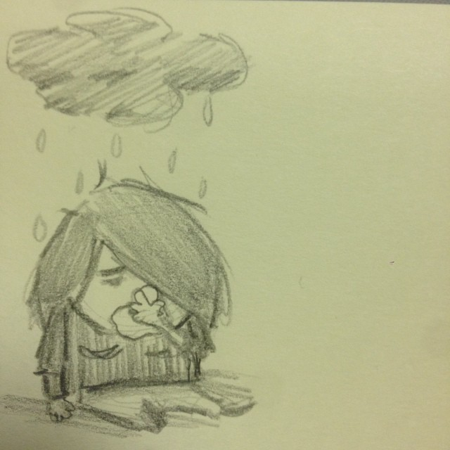 The Little Black Rain Cloud: In Which I Am Both The Little Black Rain Cloud And Myself