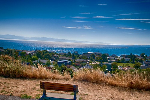 Bench with a View on Oak Bay Marina   by jurgen.proschinger