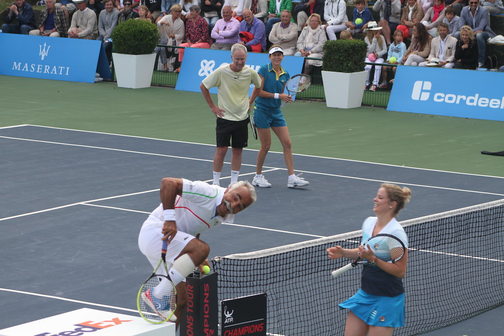 Bahrami, Clijsters, McEnroe and Seles