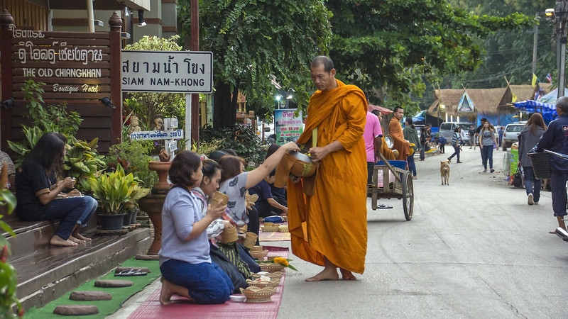 Monk and alms