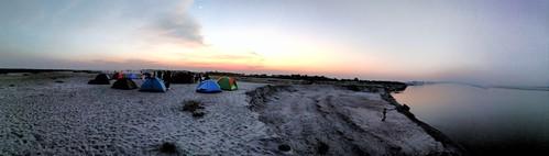 camping tent river bank vuwapur jamuna