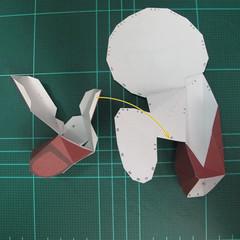 วิธีทำโมเดลกระดาษตุ้กตาคุกกี้รัน คุกกี้รสฮีโร่ (LINE Cookie Run Hero Cookie Papercraft Model) 020