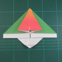 วิธีพับกระดาษเป็นรูปนกแก้ว (Origami Parrot) 013