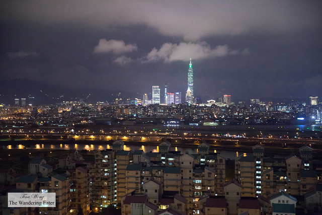 Spectacular view of Taipei from the outdoor area from INGE'S