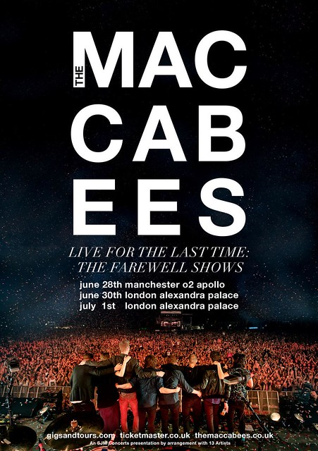 The Maccabees - Farewell shows poster