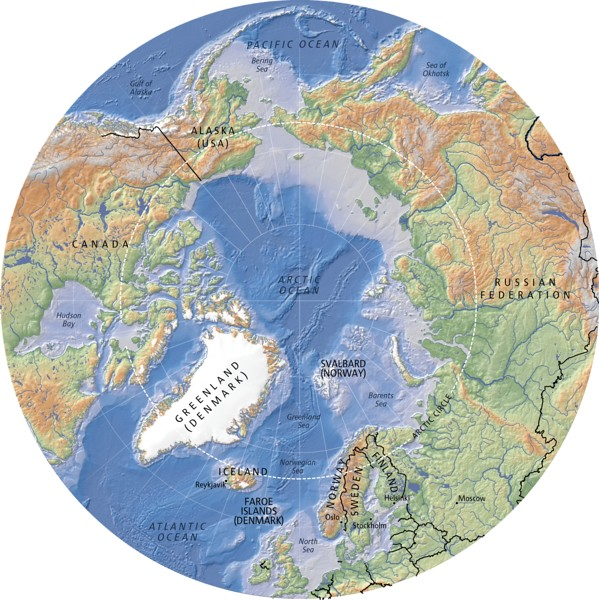 Arctic, topography and bathymetry (topographic map) | Flickr