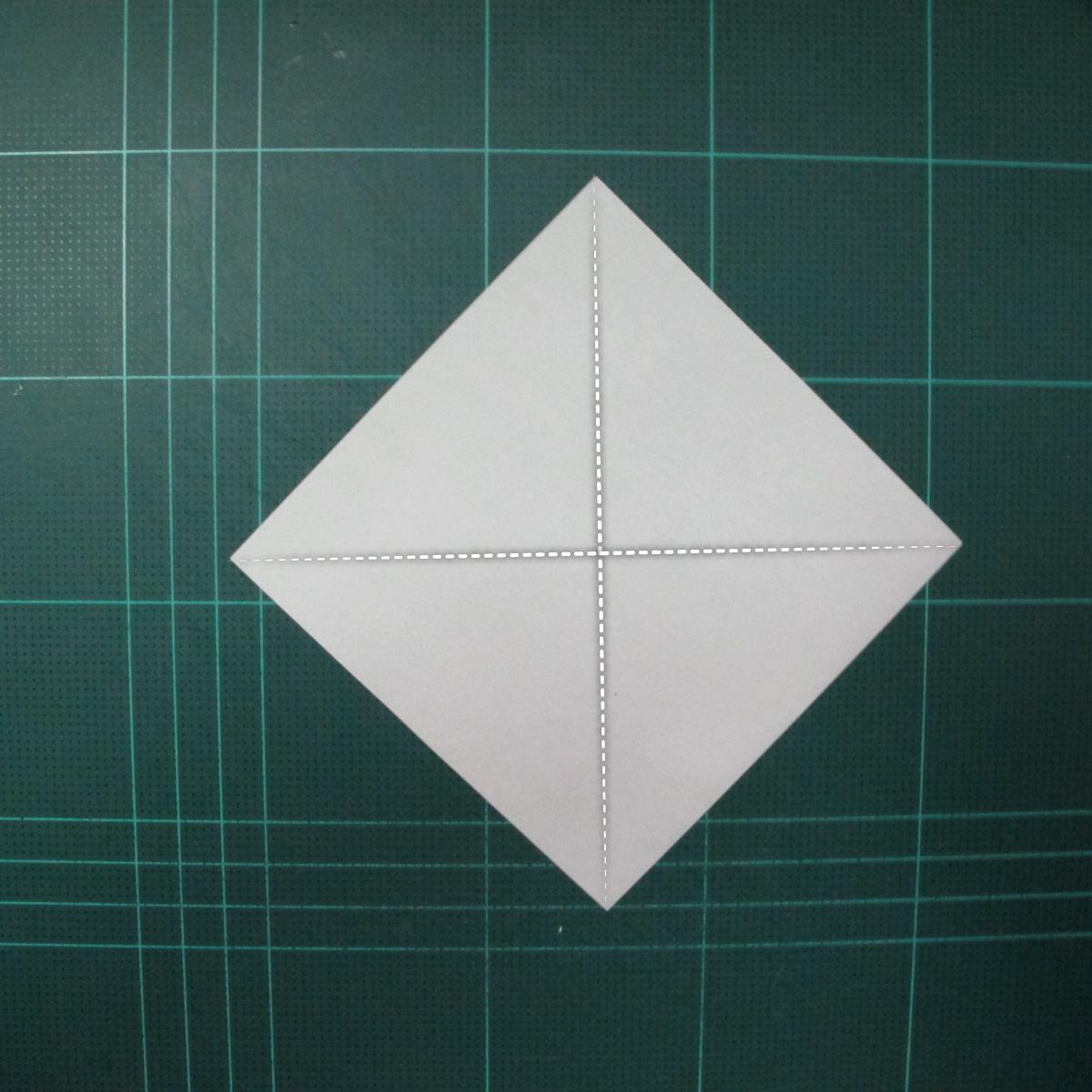 การพับกระดาษเป็นรูปแมวน้ำ (Origami Seal) 001