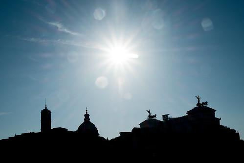 Monumento a Vittorio Emanuele II Silhouet