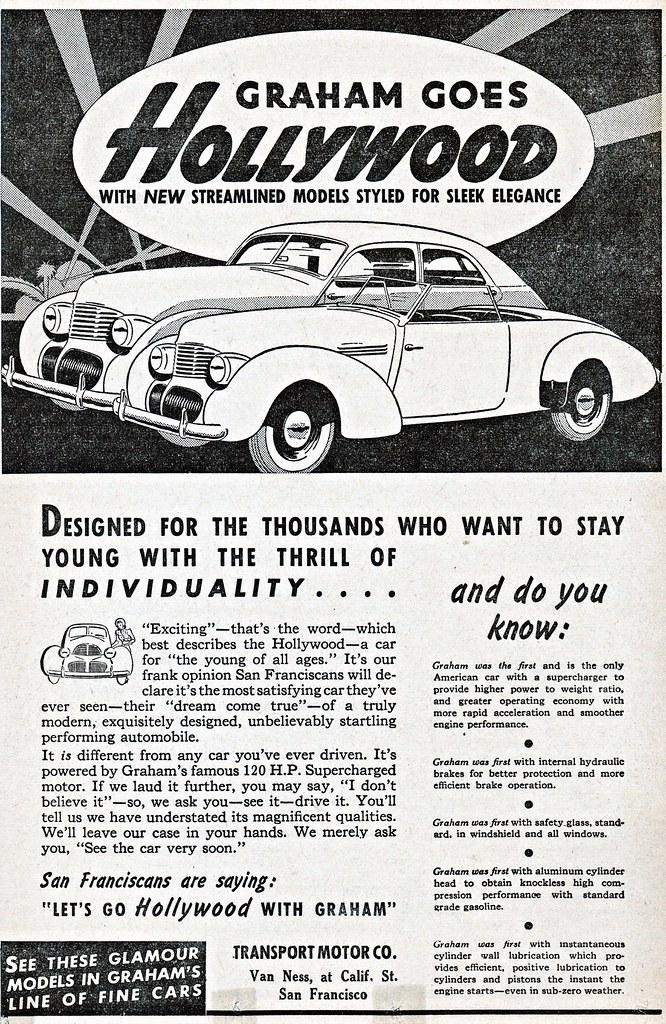 1940 Graham Hollywood Sedan & Convertible | The convertible … | Flickr