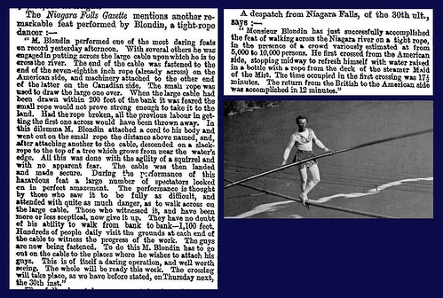 30th June 1859 - Blondin crosses Niagara Falls on a tightrope | by Bradford Timeline