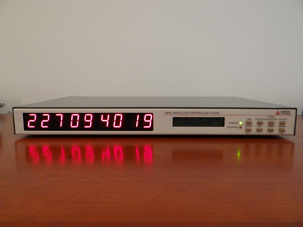 Arbiter Systems 1093C GPS Clock Front | C designates factory