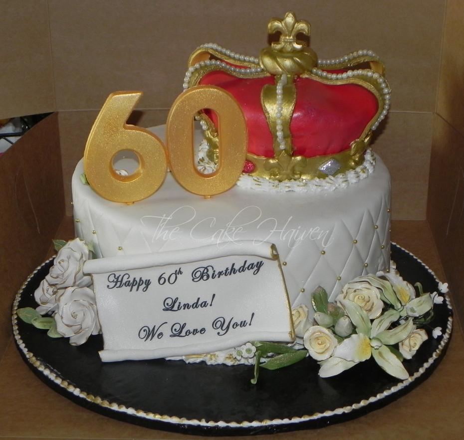 Sensational 60Th Birthday Crown Cake Yellow Cake W Vanilla Buttercrea Flickr Funny Birthday Cards Online Kookostrdamsfinfo