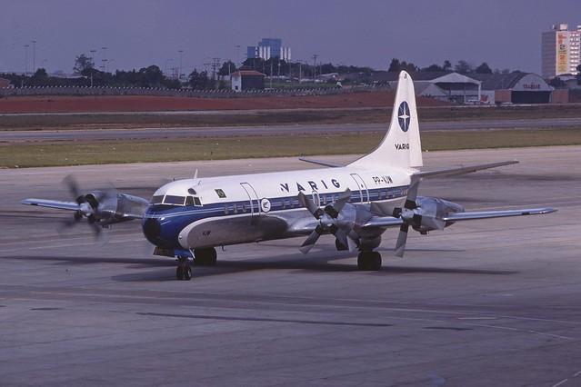 VARIG Varig Lockheed L-188A Electra; PP-VJW@CGH, December 1978