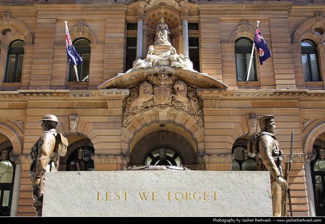Sydney Cenotaph, Martin Place, Sydney, Australia