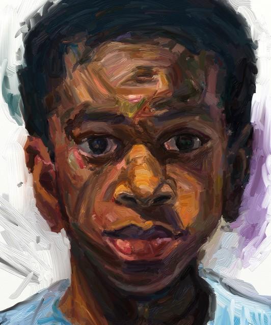 iPad portrait painting