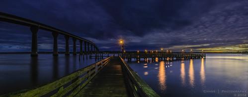 bridge sky reflection water architecture night clouds landscape pier maryland waterscape solomonsisland project365 365days