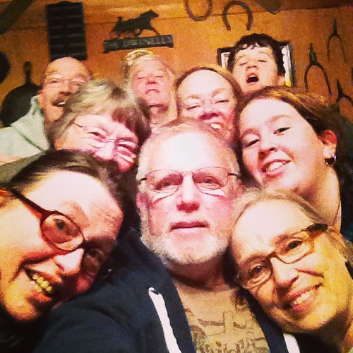 So thankful for a final supper shared at the cabin with these wonderful folks. Honored to call them family and amazed that they put up with having this crazy photo taken. #thankfulphotos #familypictures