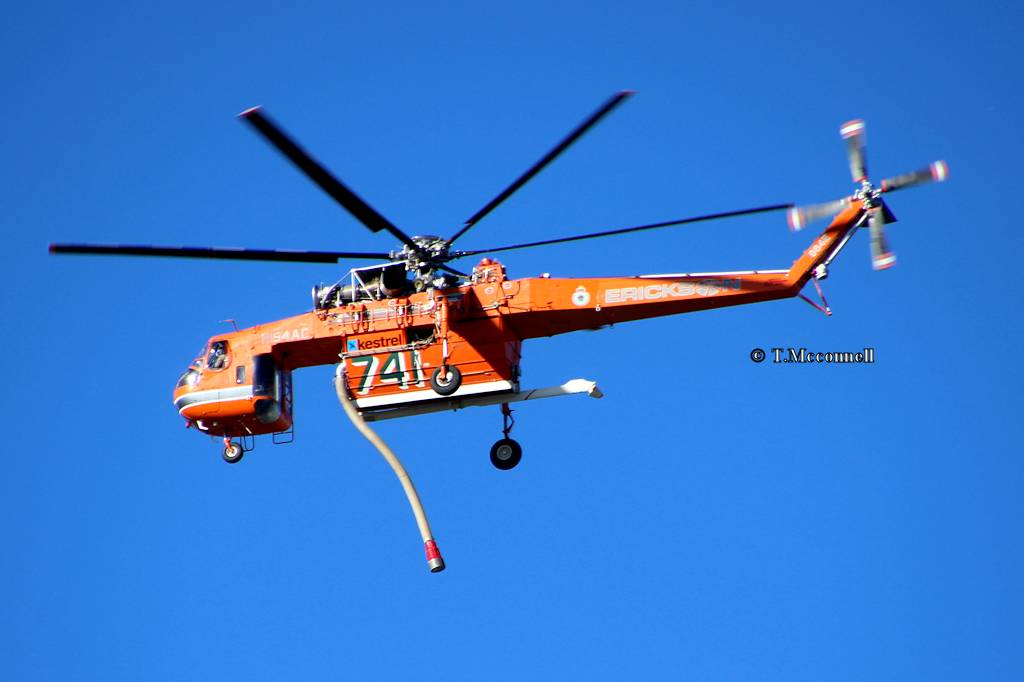 N194AC Erickson sky crane 741 to Cranebrook NSW -2 13-11-16