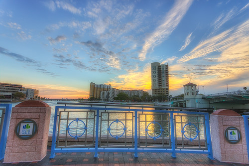 sunset tampa florida processing nik hdr riverwalk hillsboroughriver photomatix plattstreetbridge