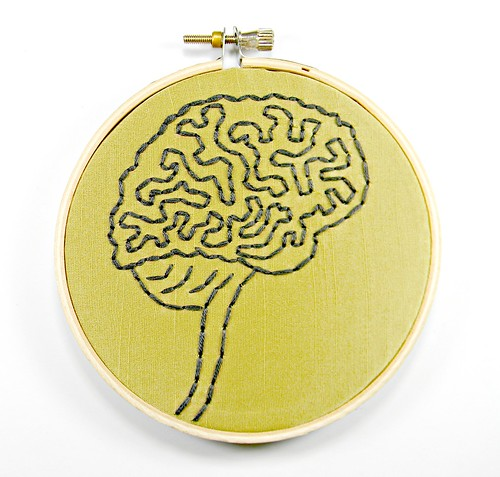 Brain Anatomy Hoop Art. Hand Embroidered Wall Decor | by Hey Paul Studios