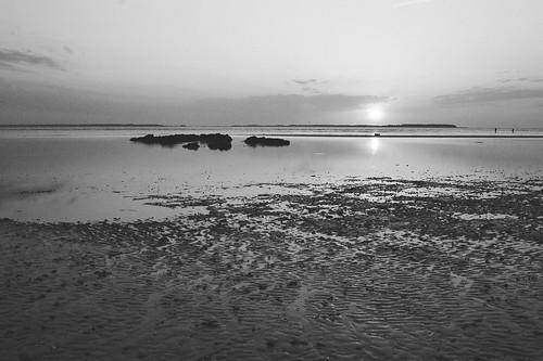 morning blackandwhite bw film beach sc sunrise 35mm nikon southcarolina xp2 sound 135 ilford n75 hiltonheadisland nikkor2880mmafg thespaatportroyal