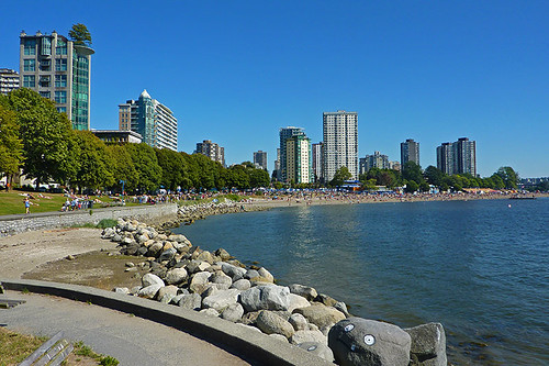 Stanley Park Seawall near English Bay Beach, Vancouver, British Columbia