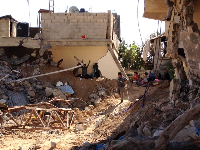 Destruction in Gaza, 2014