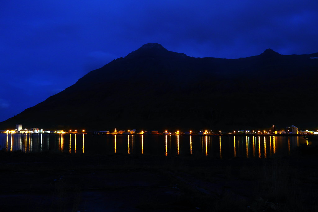 Seyðisfjörður in the Dark