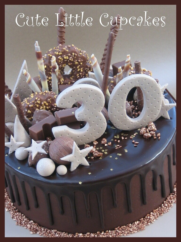 Astounding 30Th Birthday Drip Cake Heidi Stone Flickr Personalised Birthday Cards Paralily Jamesorg