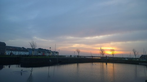 dawn twilight morninglight sunrise galway ireland eglintoncanal reflection birds