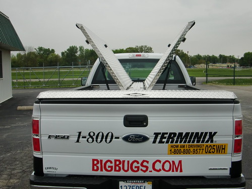 Butterfly Tonneau Cover on Terminix Pickup Truck   by DiamondBack Truck Covers
