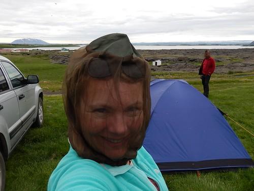 IJsland - Reykjahlio - camping met mini-muggen