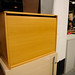 Roll front lockable cabinet