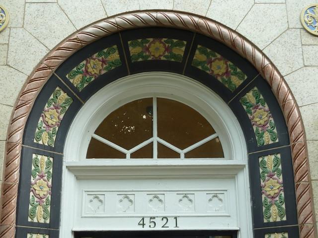 Chicago, 4521 N. Malden, Apartment Building Doorway Decoration